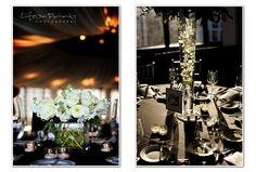 W Hotel Chicago Lakeshore Wedding: centerpieces