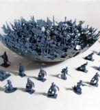 Army men bowl