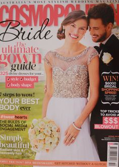 Cosmopolitan Bride Spring 2013 cover which featured Jennifer Regan gowns