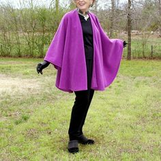 Orchid or Lavender Pink Anti Pill Fleece Wrap, Shawl, Cape, Blanket Scarf, Cloak or Poncho--One Size Fits Most by YoungbearDesigns on Etsy
