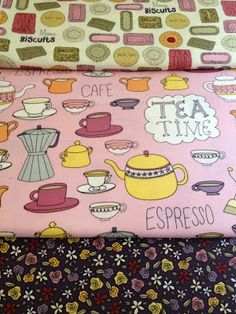 Tea Time inspired fabric collection for Robert Kaufman Fabrics #tea #fabric #design #surfacedesign #illustration #doodle