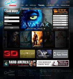 CineStar Cinemas Website by Darwin Jusay, via Behance