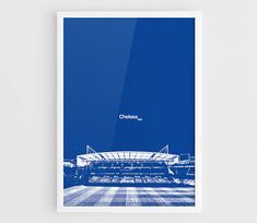 Chelsea FC Stamford Bridge Football Stadium Poster  A3 Wall