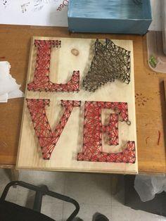 LOVE Horse string art #stringart #LOVE #horse