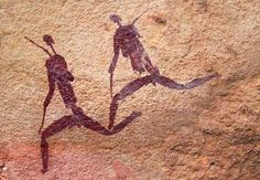Lendário Blombos Cave in South Africa has given us vast knowledge about our early ancesto. Blombos Cave in South Africa has given u. African Paintings, African Art, Art Paintings, Stone Age Man, Van Gogh Pinturas, Prehistoric Age, Cave Drawings, Art Society, Aboriginal Art