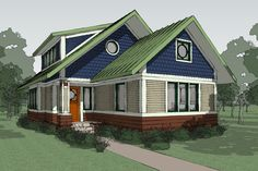 Craftsman Style House Plan - 2 Beds 2 Baths 1600 Sq/Ft Plan #454-13 Exterior - Other Elevation - Houseplans.com