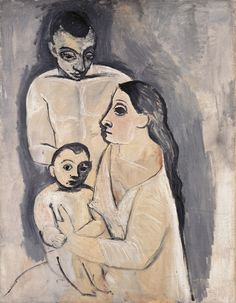 Pablo Picasso, Man, Woman, and Child (Homme, femme et enfant), Paris, fall 1906. Oil on canvas, 115.5 x 88.5 cm. Kunstmuseum Basel, Gift of the artist to the City of Basel, 1967.