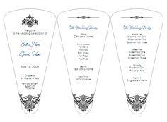DIY Wedding Programs.  Free Templates Pre-designed Program Fan by Aylee