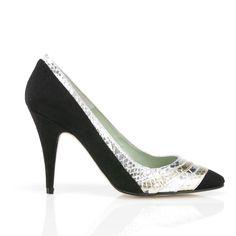 Super Sexy Souls: Sim - Black Faux Suede | BeyondSkin - Designer Vegan Shoes