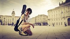Stylish Girls with Guitar