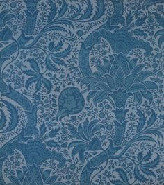 William Morris Indian wallpaper, I desperately want this for our living room after seeing it in Frank Leighton's bedroom!