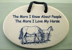 HORSE LOVER Inspirational Humor by MOUNTAINE MEADOWS Hndmade Pottery Plaque USA #plaques #signs (ebay link) My Horse, Horses, Pottery Houses, 1957 Chevy Bel Air, Metal Plaque, Man Cave Garage, Tin Signs, Hanging Signs, Street Signs