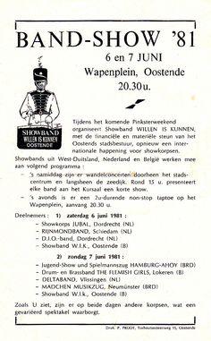 OOSTENDE - BAND SHOW '81 -- 6 juni 1981 met de Internationale Show - deelname 2e keer