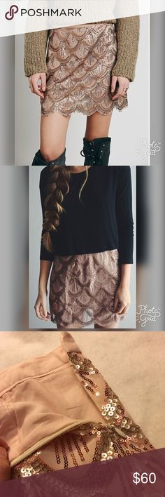 cf2ec1e22c206 NWT Free people skirt Brand new with tags free people scalloped sequin skirt!  Size large