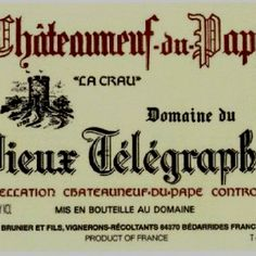Vieux Telegraphe is one of the greatest, most historic producers in all of Chateauneuf du Pape. Domaine du Vieux Télégraphe does indeed take its name from an old telegraph station, which was once situated on the hill where this domaine now stands.