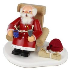 German Incense Smoker Sitting Santa SMD146X1553