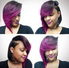 Dope natural blown bob via Quick Weave Hairstyles, Dope Hairstyles, Creative Hairstyles, Pretty Hairstyles, Black Hairstyles, Curl Styles, Hot Hair Styles, Natural Hair Weaves, Natural Hair Styles