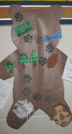 Going On A Bear Hunt Map Using Pawprint Stamp And Various Different Textures For The Spots Sensory