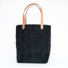 Waxed Canvas Tote / Black