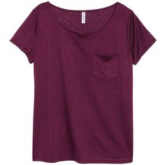 Jersey Top $9.99 (280 UYU) ❤ liked on Polyvore featuring tops, t-shirts, shirts, blusas, t shirt, shirt jersey, purple top, h&m t shirts and purple shirt