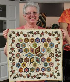 Sharon Bannister. Flower Garden Hexagons, Jackson Quilt Guild
