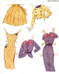 MAGIC-COLORING | Grace Kelly Paper Dolls