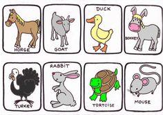 14 Ideas De Granja En Ingles Granja En Ingles Animales De La Granja Granja Dibujo