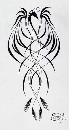Phoenix tattoo virtue, grace, resurrection, victory