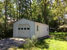 14' X 30' Wooden Portable Garage - Delivered Fully Assembled and Ready for Immediate Use....Visit NorthCountrySheds.com for more info..