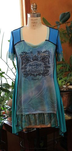 Hey, I found this really awesome Etsy listing at https://www.etsy.com/listing/193063201/hard-rock-cafe-tunic-dress-blue