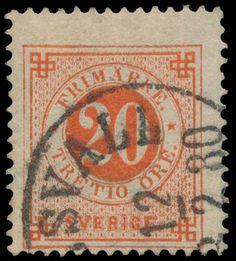 """Sweden 1877. Numerial. 20 öre, """"tretio"""" variant"""