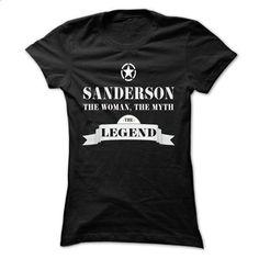 SANDERSON, the woman, the myth, the legend - #tee trinken #tumblr sweatshirt. ORDER HERE => https://www.sunfrog.com/Names/SANDERSON-the-woman-the-myth-the-legend-lejbvyccnu-Ladies.html?68278
