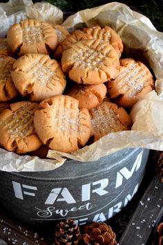 Butter Shortbread Cookies, Buttery Cookies, Peanut Butter Cookies, Homemade Cookies, Yummy Cookies, Cake Cookies, Sugar Cookies, Baking Recipes, Cookie Recipes