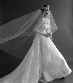 1953 wedding dress. Photo by John French                                                                                                                                                     More