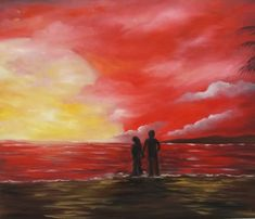 Oil On Canvas, Passion, Romantic, Facebook, Artist, Red, Painting, Romantic Things, Painted Canvas