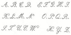 1800's Alphabet Typography Fonts from Knick of Time