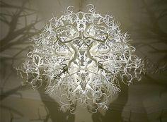 light sculpture mirrored