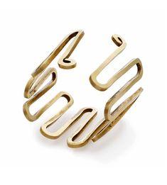 Bracelet | Alexander Calder.  Gold wire.  ca. 1940