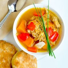 A quick healthy delicious and nutritious soup that makes the best of leftover turkey or chicken. The post Turkey Quinoa Sweet Potato Soup appeared first on Rock Recipes. Rock Recipes, Vegan Recipes, Cooking Recipes, Coconut Recipes, Pie Recipes, Dinner Recipes, Dessert Recipes, Desserts, Quinoa Sweet Potato