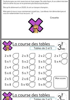 Multiplication Test, It Works, School, Cycle 3, Couture, Learning Multiplication Facts, Times Table Chart, Math Lessons, Mathematical Practices