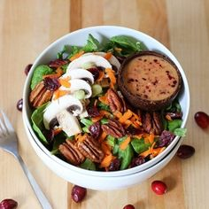 Salad with Cranberry Dressing