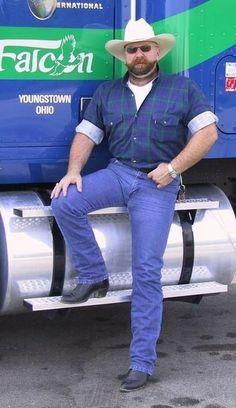 of hot truckers & cowboys Boots And Jeans Men, Tight Jeans Men, Hot Country Boys, Cowboys Men, Scruffy Men, Muscle Bear, Biker Leather, Bear Men, Big Boys