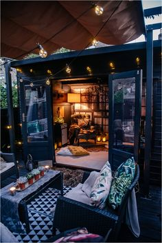5-ESSENTIALS-perfect-cabin-in-woods-summerhouse Green Lounge, Tongue And Groove Ceiling, Floor Insulation, Building A Cabin, Dark Blue Living Room, Interior Styling, Interior Design, Dark Blue Green, Getaway Cabins