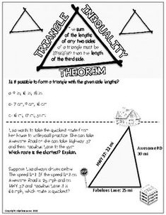 Triangle Inequality Theorem Doodle Graphic Organizer