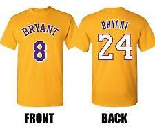 La Lakers Kobe Bryant T Shirt Number 8 24 Front Back Game Tribute Replica In 2020 Lakers Kobe Bryant Lakers Kobe Kobe Bryant