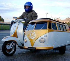 VW bus sidecar - WILD!