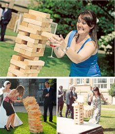 Looking for fun reception activities for your guests to partake in? Since you may guests who range in age from children to seniors, you may be interested in offering alternative activities that can. Jenga Wedding, Tipi Wedding, Wedding Table, Our Wedding, Wedding Stuff, Wedding Ideas, Dream Wedding, Wedding Crafts, Wedding Things
