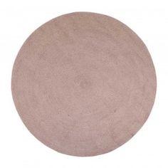 PET matta fläta d.150 cm puderrosa