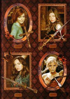 Buffy, Willow, Faith, Tara
