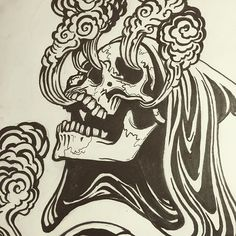 Inking #art #drawing #illustration #tattoo